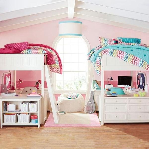 Sơn Jotun gam màu hồng trang trí cho phòng ngủ