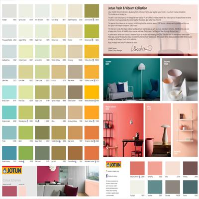 bảng màu sơn nội thất jotun Majestic
